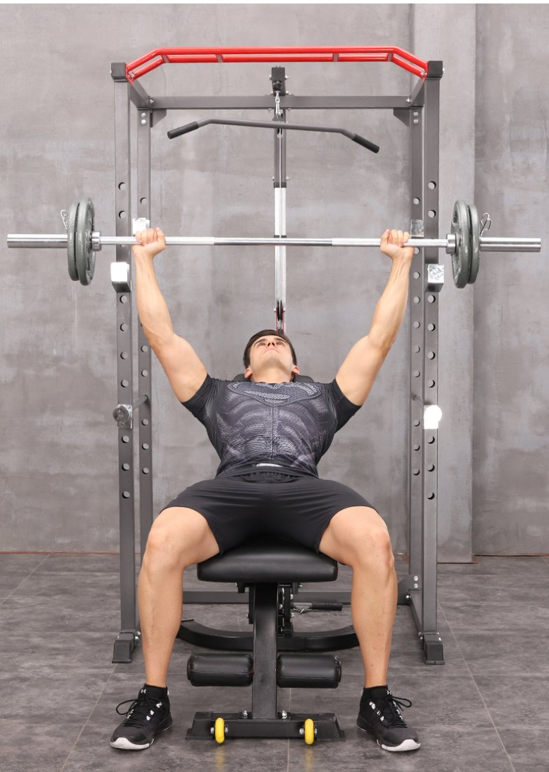 Gravity D Series Power Rack with Pulldown and Biceps Curl
