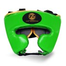 Pro Fitness Head Guard Synthetic Leather Metallic Green / Black / Gold