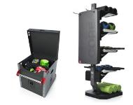 Accessories storage, racks