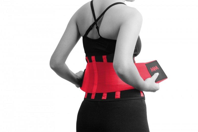 MADMAX  Slimming Belt, Women's, Black/Rubine red