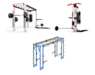 Functional and cross-training rigs, racks, bridges