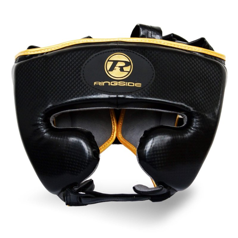Pro Fitness Head Guard Synthetic Leather Metallic Black / Gold