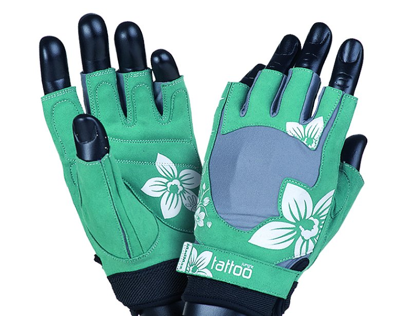 MADMAX Jungle Gloves for fitness, Women's, Green / Cream