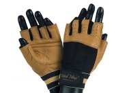 MADMAX CLASIC Gloves for fitness, Men's, Natural brown / black