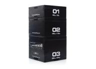 Set of 3 Black Plyoboxes