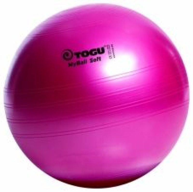 MyBall Soft 75 cm mīksta vingrošanas bumba, dažādas krāsas