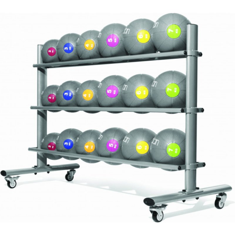 Medicine Ball Rack - Silver oval frame