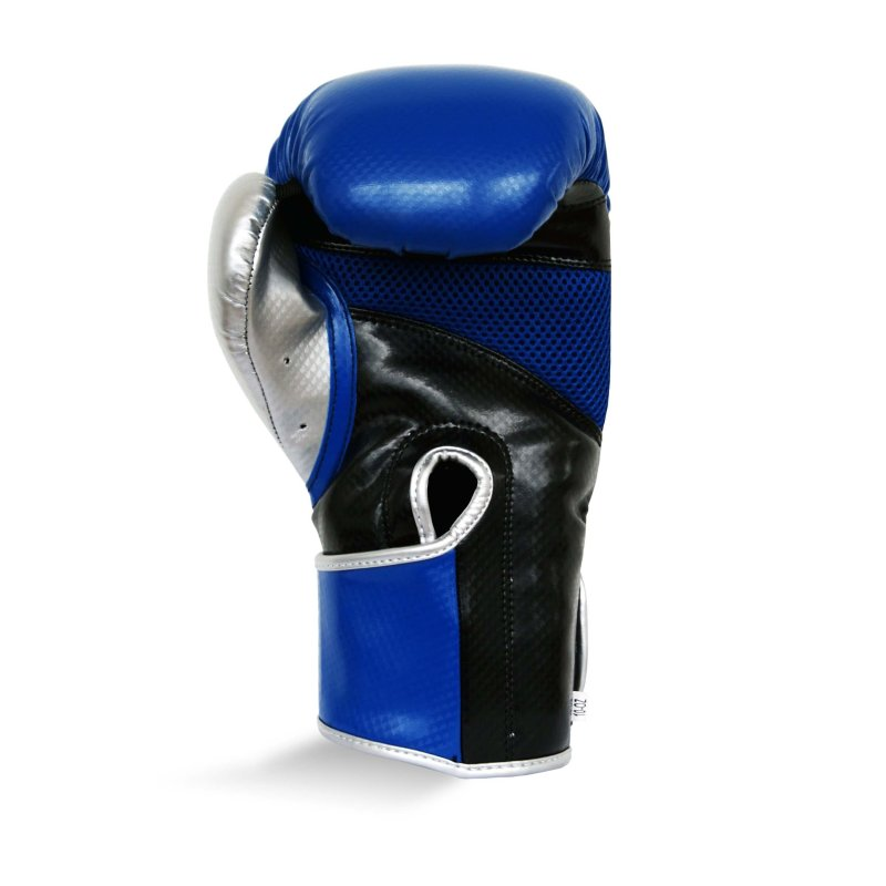 Pro Fitness Glove Synthetic Leather Glove Metallic Navy / Black / Silver