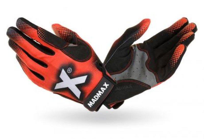 MADMAX Crossfit Gloves, Men's, Black / Grey / Red