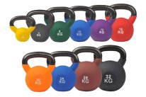 Colored Kettlebell with neoprene covering, different weights