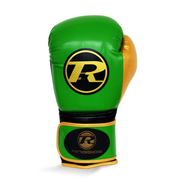 Pro Fitness Glove Synthetic Leather Glove Metallic Green / Black / Gold