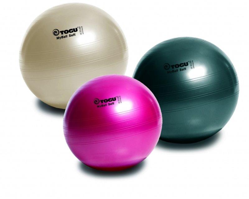 MyBall Soft 45 cm mīksta vingrošanas bumba, dažādas krāsas