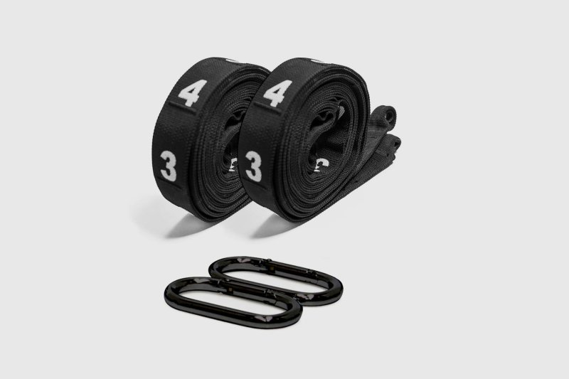 5' Competition Strap for Gymnastic Rings  w/carabiners - 148 cm. - Black