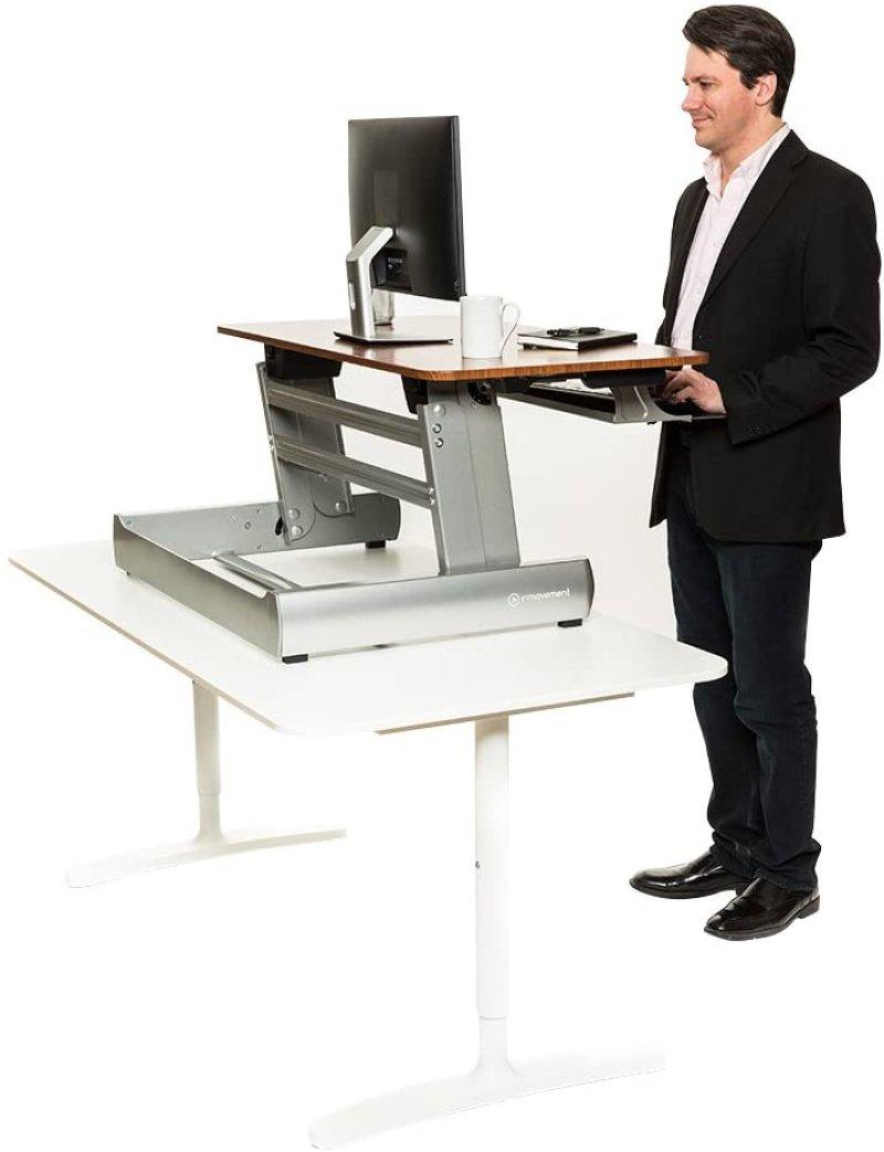 InMovement Desktop Ready, Light Wood Grain