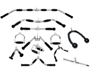 Strength equipment accessories, handles