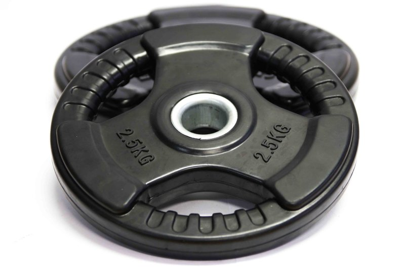 Gravity D Black Rubber Coated Plate, Diameter 30mm, psc, different weights