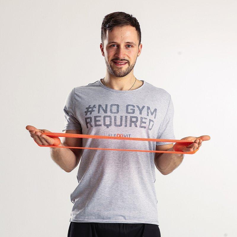 FLEXVIT Mini knit bands bundle (3), athlete with bag