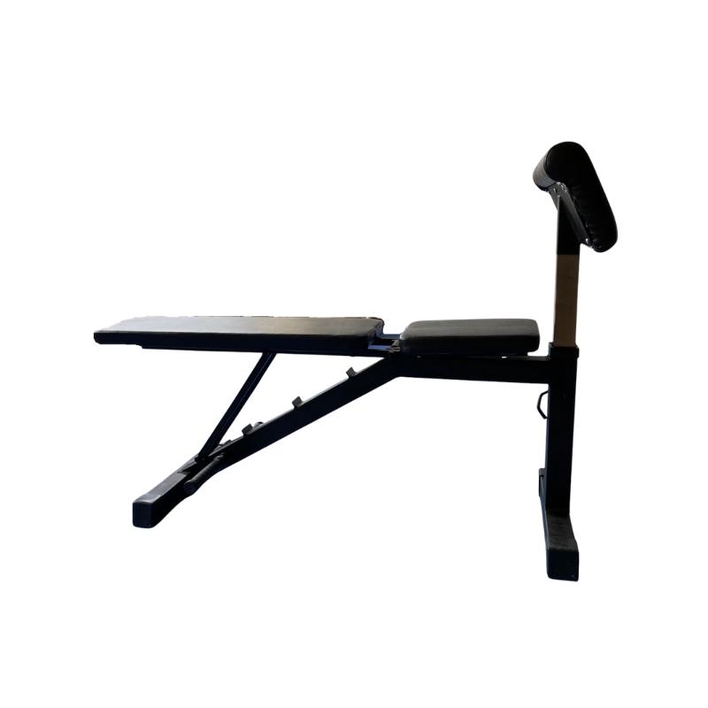 Gravity Z Adjustable Bench witth Biceps Curl Attachment, Color: black, dim.: 129х47х127 cm Material: