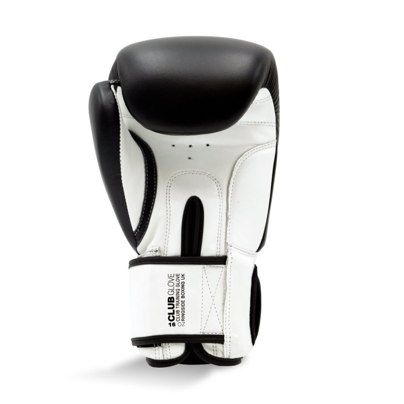 Club Glove - Black / White (16oz), Size: 16oz
