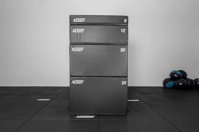 Xenios Safe Training Soft Plyometric Box - Stackable, different heights