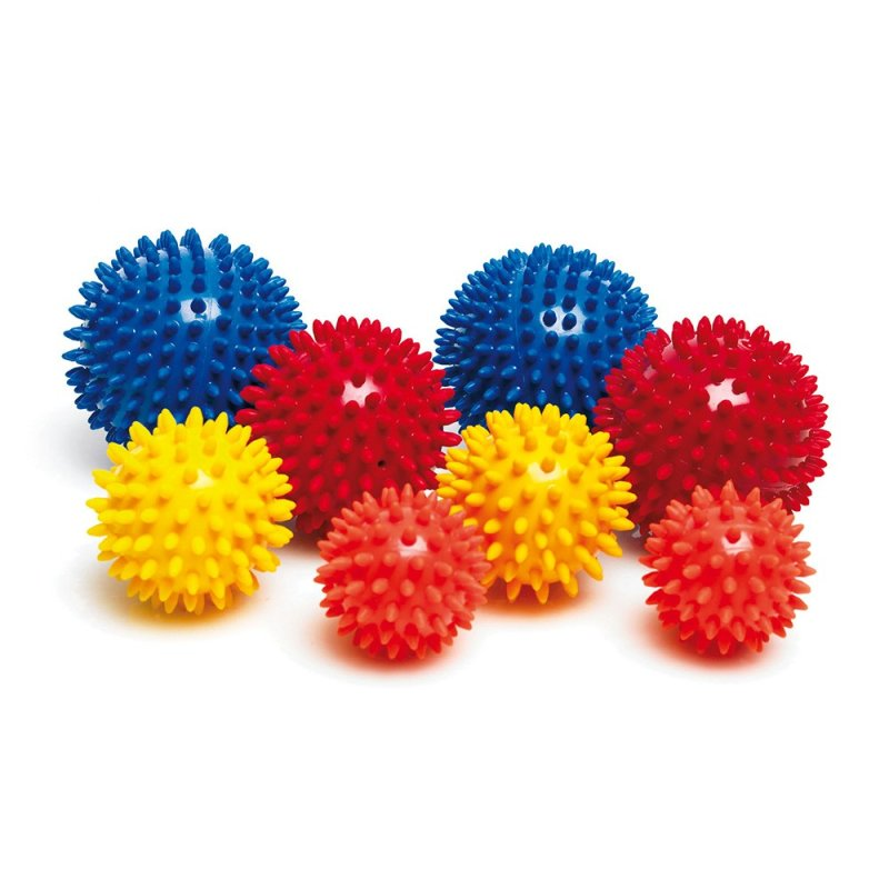 Spiky Massage Ball 8 cm, yellow , 8 cm