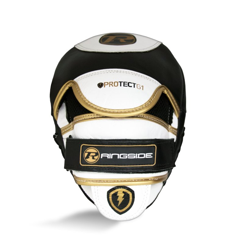 Protect G1 Hook & Jab Pads White / Black / Gold