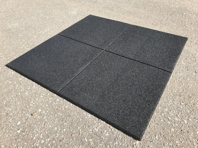 SBR rubber flooring, flat tile 900, thickness: 15 mm, color group: A