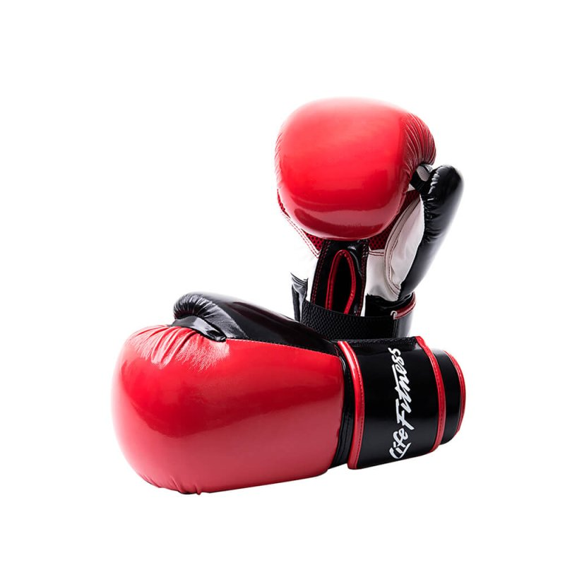 LIFE FITNESS BAG GLOVES, PAIR, RED
