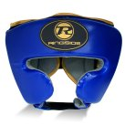 Pro Fitness Head Guard Synthetic Leather Metallic Royal / Black / Gold