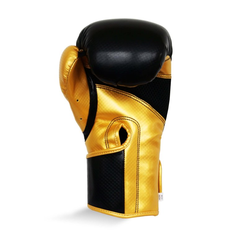 Pro Fitness Glove Synthetic Leather Glove Metallic Black / Gold