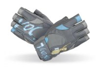 MADMAX voodoo Gloves for fitness, Women's, Mid grey / light blue