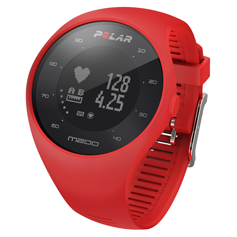 Polar Wristband for M200, Red, M/L