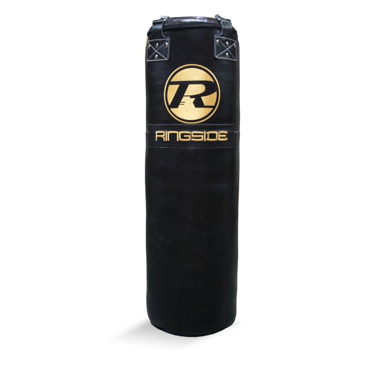 4FT Buffalo Leather Punch Bag  G2 - Black / Gold