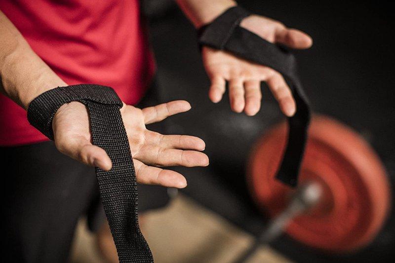 Padded Cotton Lifting Straps - Black