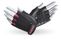 MADMAX Rainbow Gloves for fitness, Women's, BLACK/RUBINE RED