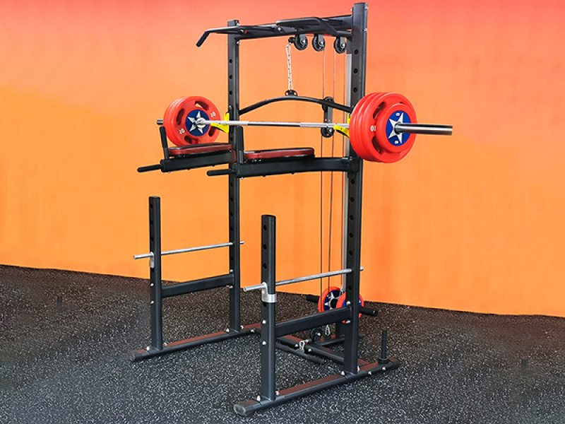 Gravity D Series Multi Rack with Pulldown and Biceps Curl