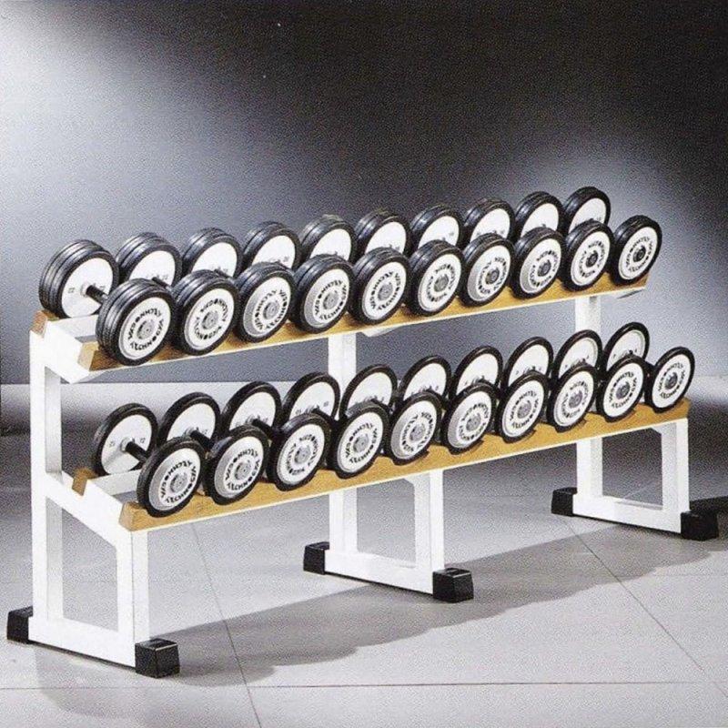 Technogym Dumbbell Rack, capacity 5 pairs