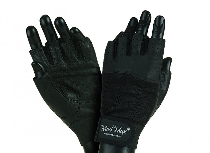 MADMAX CLASIC Exclusive Gloves for fitness, Men's, Black / black