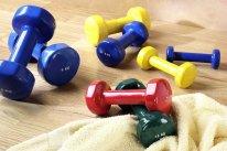 MF aerobikas hanetele, dažādi svari
