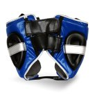 Pro Fitness Head Guard Synthetic Leather Metallic Navy / Black / Silver