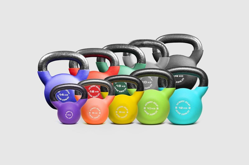 Xenious Fitness Kettlebell with neoprene cover, different weights