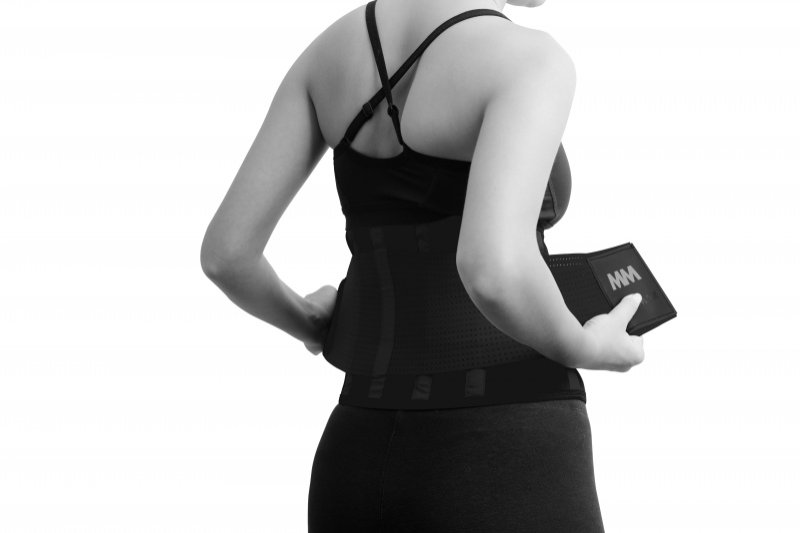 MADMAX  Slimming Belt, Women's, Black/Black