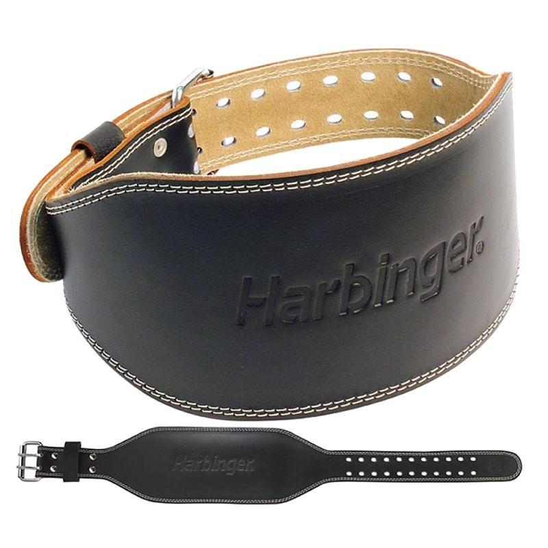 """Harbinger 4"""" Padded Leather Belt, Black"""