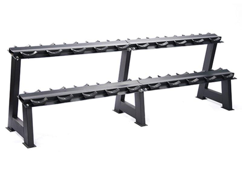 Gravity D Dumbbell Rack, 10 pairs capacity, 240 x 56 x 80 cm