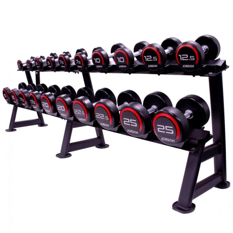 12.5kg-35kg Classic Rubber Dumbbells Set