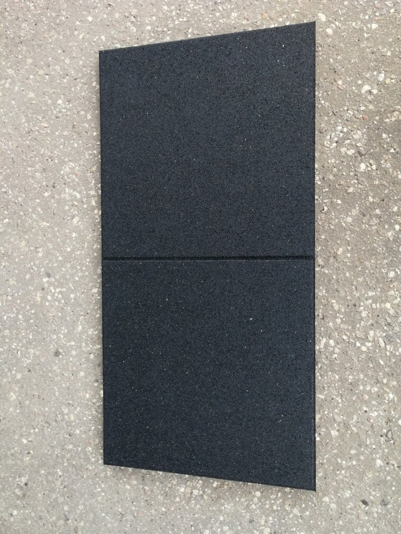 SBR rubber flooring, flat tile 900, thickness: 40 mm, color group: A
