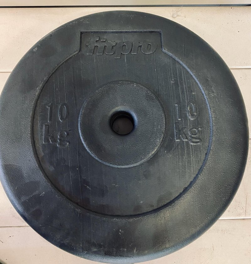 FitPro BODYPUMP 10 kg weight discs, for 28mm bar